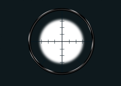 sniper view finder for aim the target